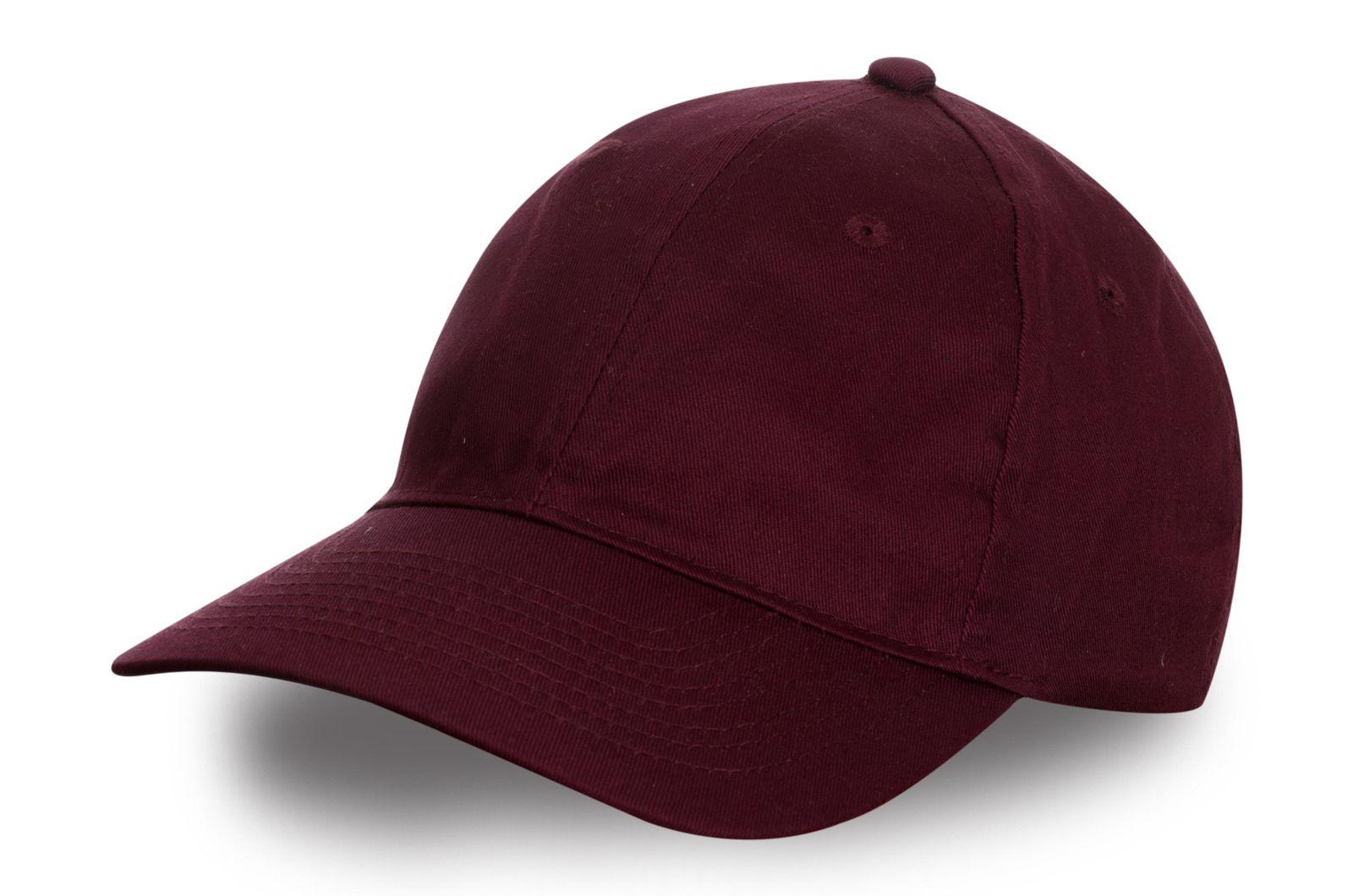 Бейсболка бордового цвета | Купить бейсболки в интернет-магазине