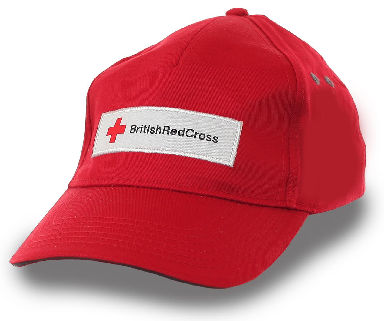 Красная бейсболка Британский Красный Крест. ЧЕЛОВЕК, присоединяйся к международному благотворительному движению