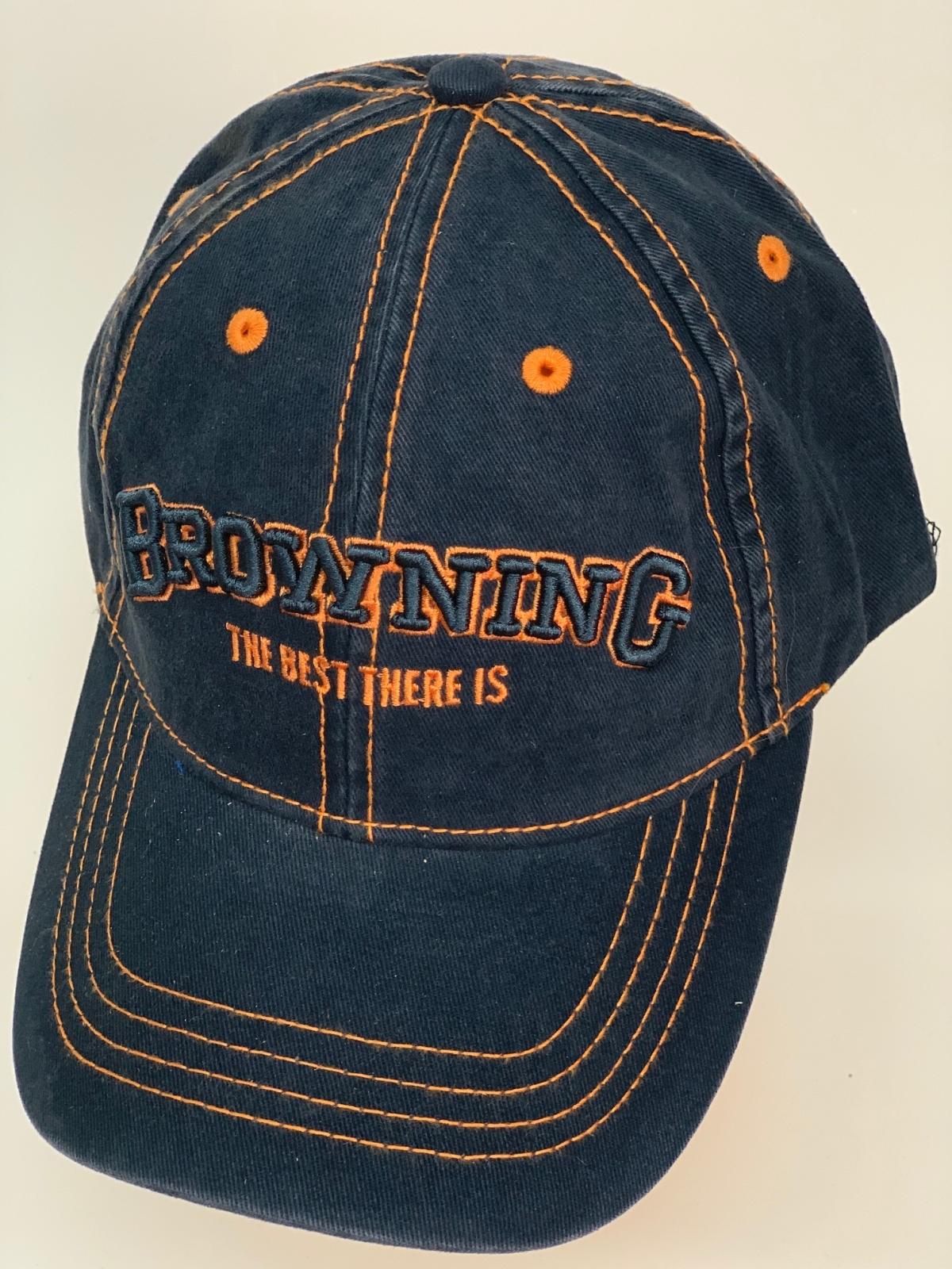 Бейсболка Browning черного цвета с оранжевой нитью
