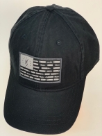 Бейсболка Browning черного цвета с серой нашивкой