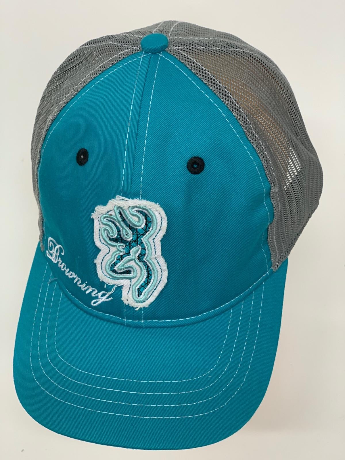 Бейсболка Browning голубого цвета с серой сеткой