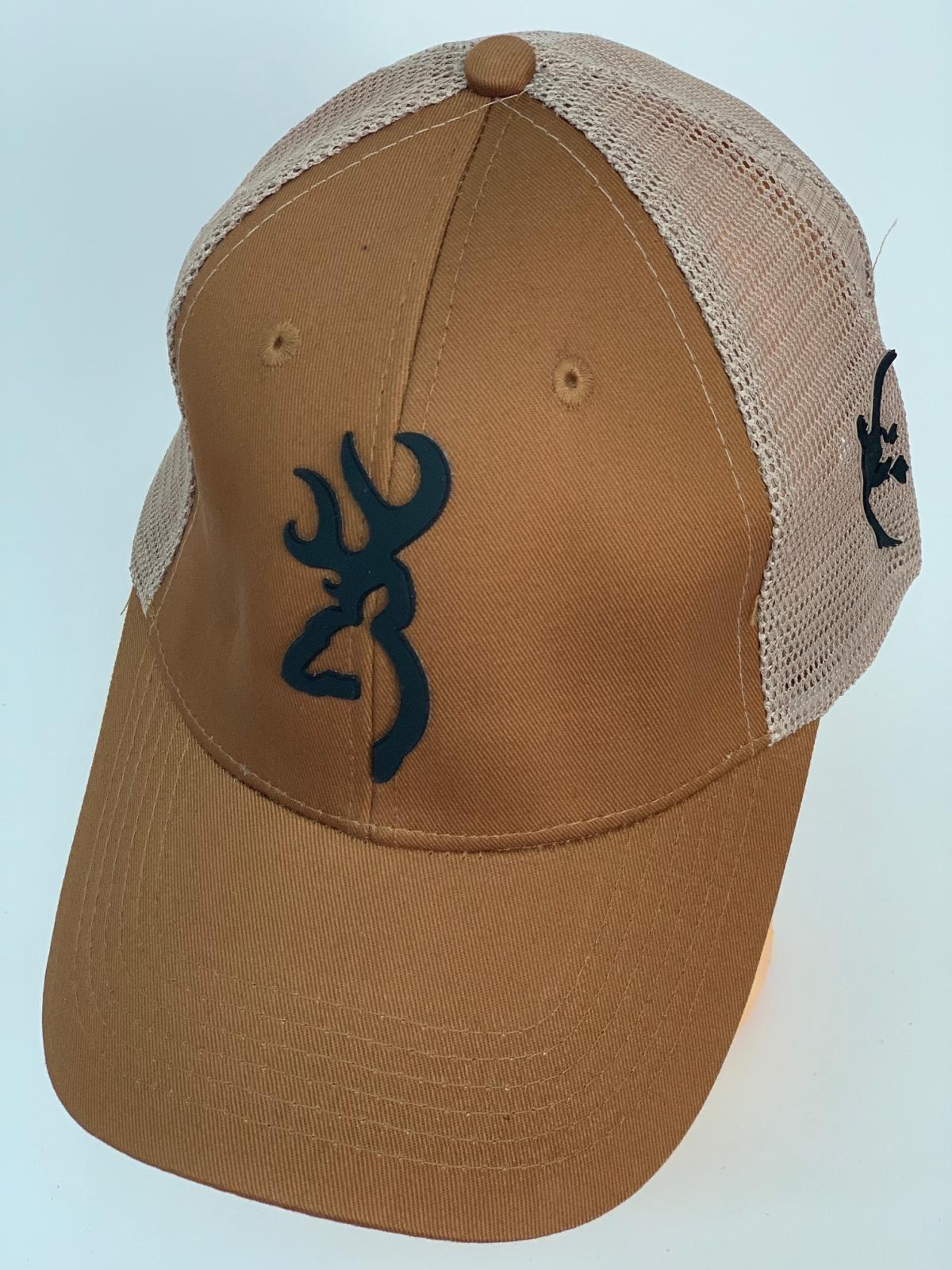Бейсболка Browning коричневого цвета с бежевой сеткой
