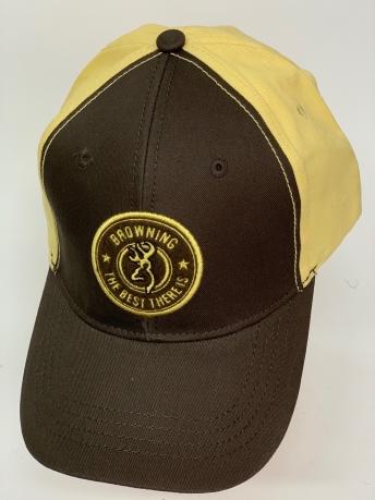 Бейсболка Browning коричневого цвета с желтым тылом
