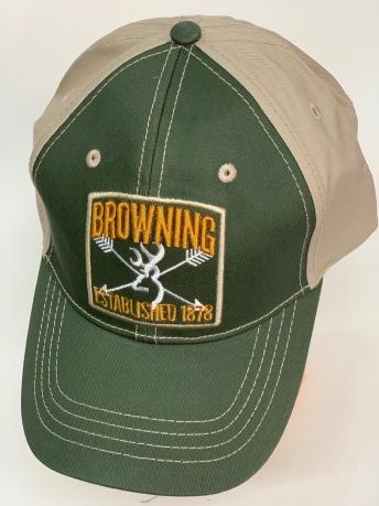 Бейсболка Browning оливкового цвета с серым тылом