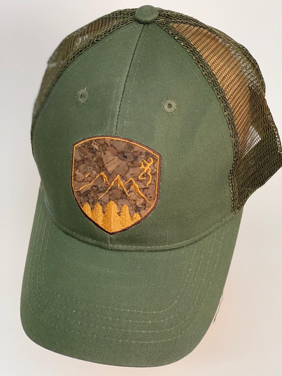Бейсболка Browning оливкового цвета с сеткой
