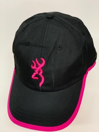 Бейсболка Browning с розовой вышивкой и каймой