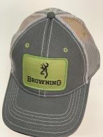 Бейсболка Browning с салатовой прямоугольной нашивкой
