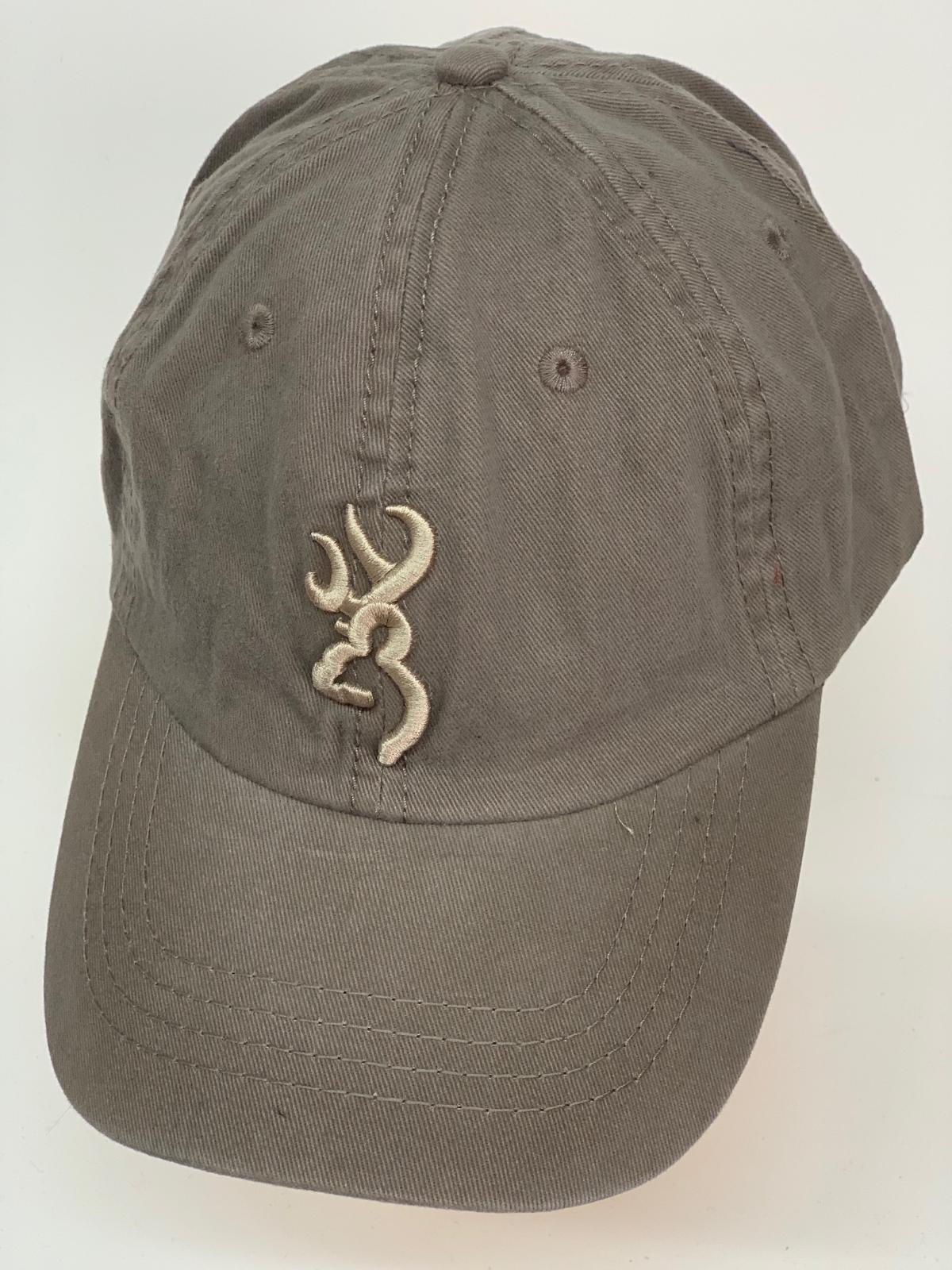 Бейсболка Browning серого цвета с бежевой вышивкой