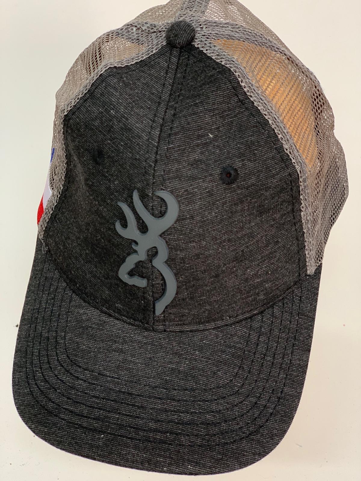 Бейсболка Browning серый трикотаж с сеткой
