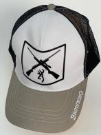 Бейсболка Browning со скрещенными ружьями на тулье и серым козырьком
