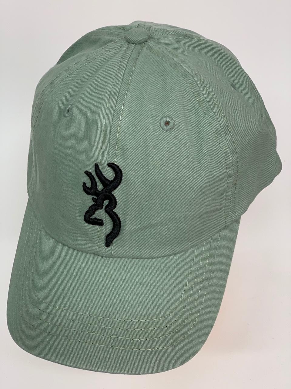 Бейсболка Browning светло-оливкового цвета с темной вышивкой