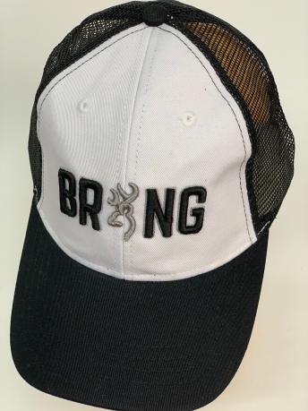 Бейсболка Browning темно-серого цвета с белой тульей