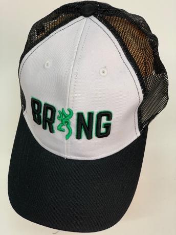 Бейсболка Browning темно-серого цвета с белой тульей и сеткой