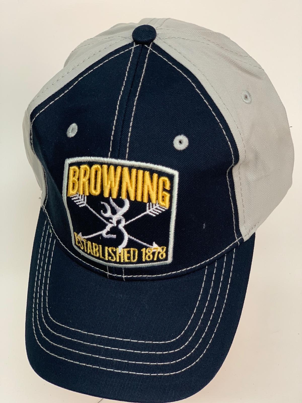 Бейсболка Browning темно-синего цвета с серым тылом