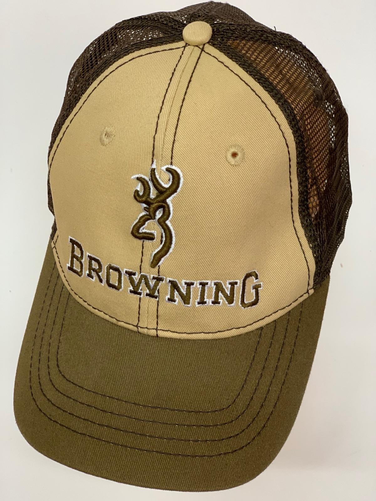 Бейсболка Browning в коричневых оттенках с сеткой