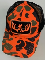 Бейсболка Browning ярко-оранжевый камуфляж с черной сеткой