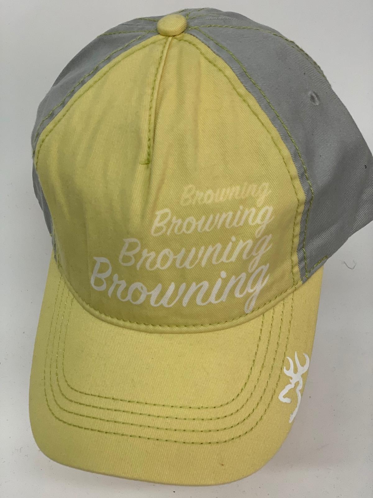 Бейсболка Browning желтого цвета с серым тылом