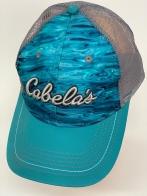 Бейсболка Cabela's голубого цвета со светлой сеткой