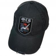 Бейсболка черная с термотрансфером ФСБ России