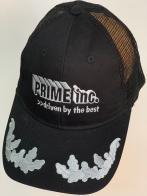 Бейсболка черного цвета PRIME inc. с вышивкой