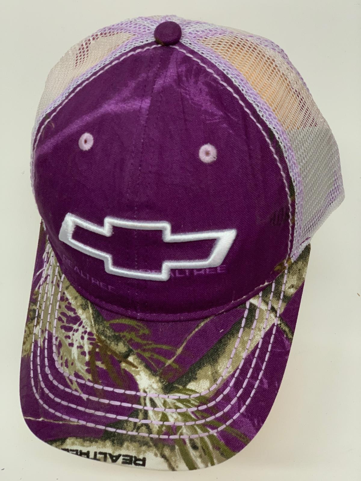 Бейсболка Chevrolet фиолетовый камуфляж с белой сеткой