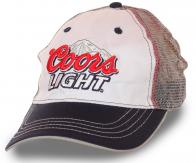 Мужская бейсболка Coors Light®. Модель с сеткой для любителей пенного. Губит людей не пиво, губит людей вода!