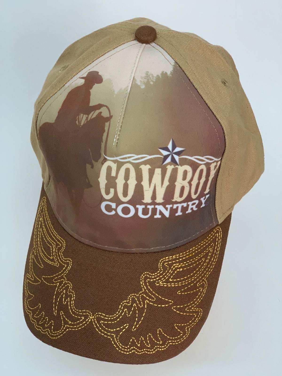 Бейсболка Cowboy Country с фотопринтом и вышивкой