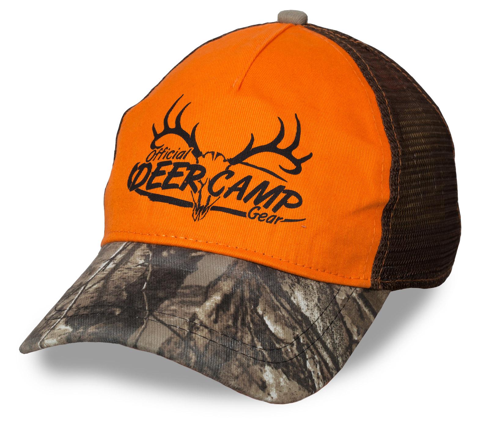 МОДНО и ФУНКЦИОНАЛЬНО! Яркая бейсболка Deer Camp – камуфляжный козырек, сетка для улучшенной вентиляции, правильное сочетание цветов
