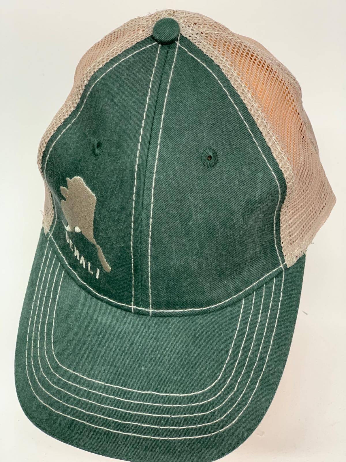 Бейсболка Denali зеленого цвета с сеткой