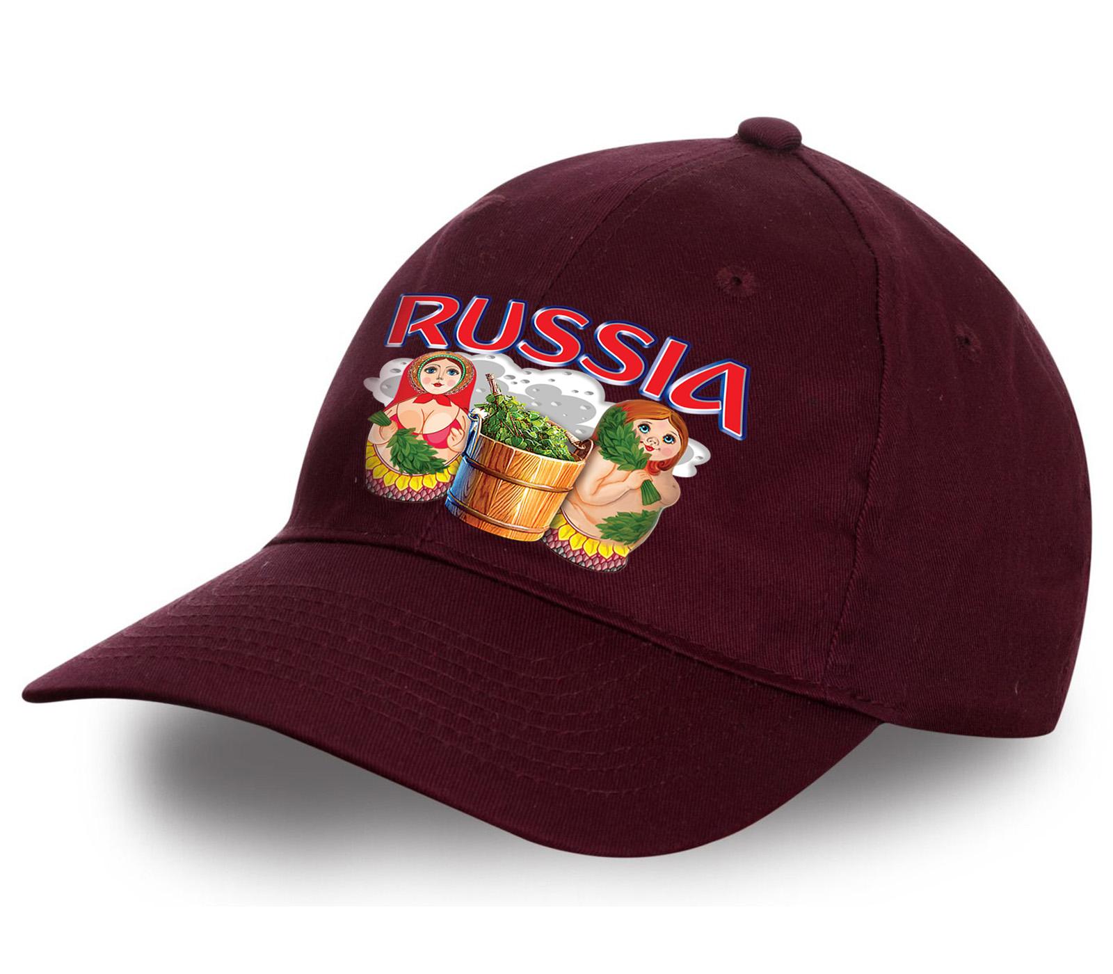 """Бейсболка для истинных патриотов - """"Russia матрешки"""". Яркая, качественная, современная! Достойный презент для себя или в подарок!"""