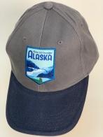 Бейсболка джинс Alaska с яркой нашивкой на тулье