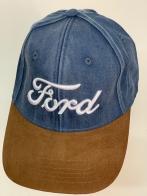 Бейсболка джинс Ford с замшевым козырьком