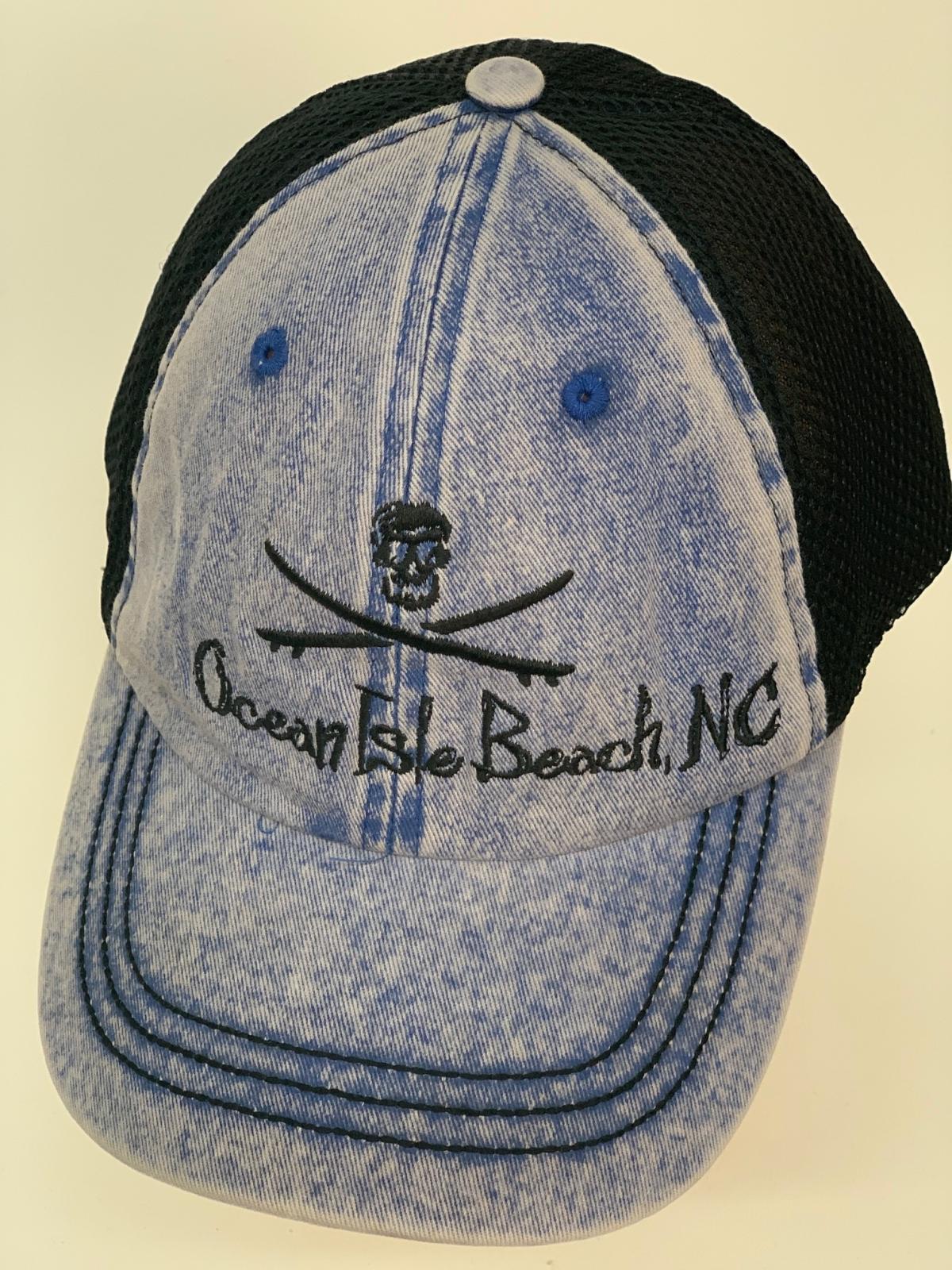 Бейсболка джинс Osean Isle Beach NC с черной сеткой