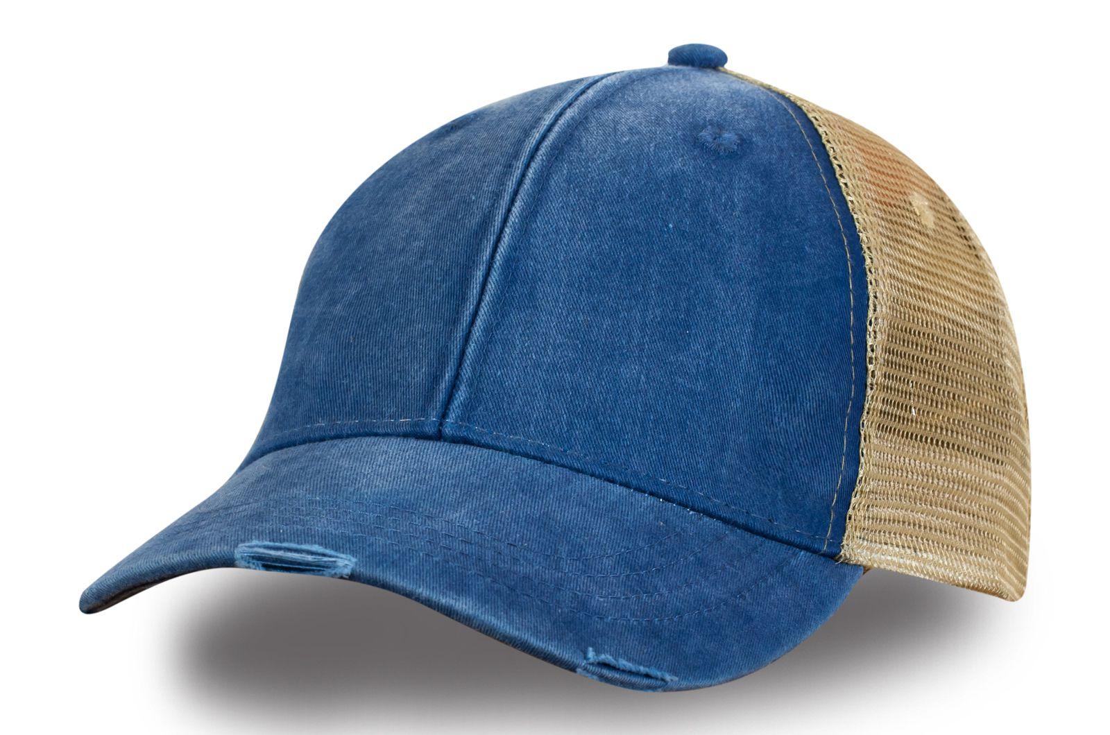 Джинсовая кепка дальнобойщика