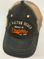 Бейсболка Florida черного цвета с белой сеткой