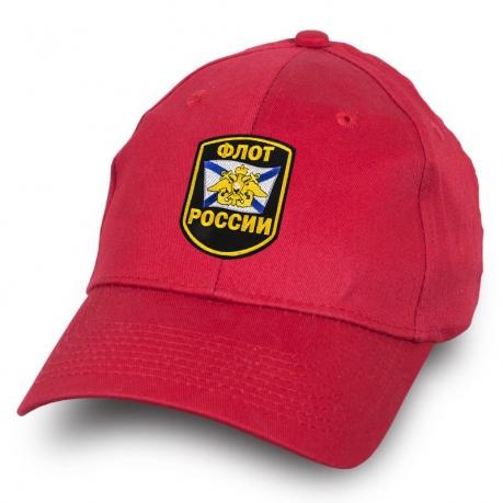 Бейсболка Флот России красная