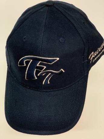 Бейсболка FT черного цвета с бежевой вышивкой