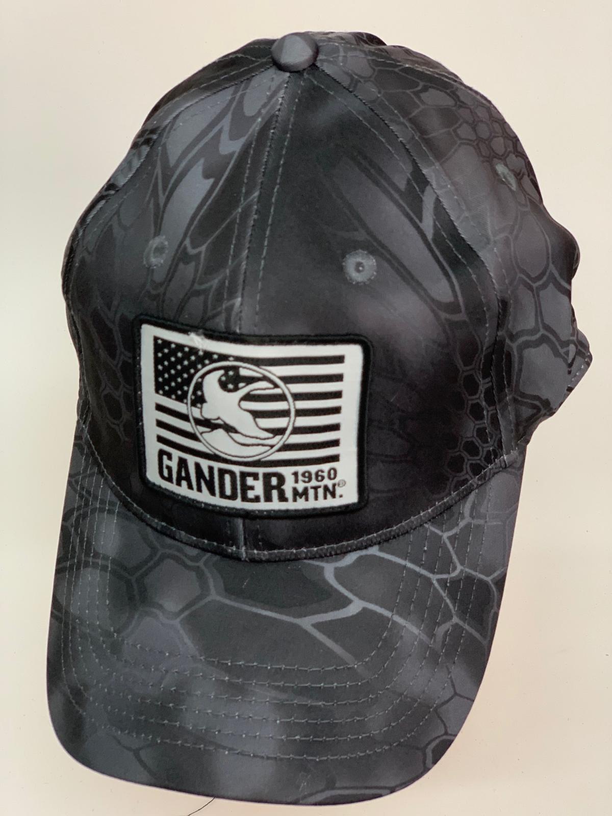 Бейсболка Gander черный камуфляж питон