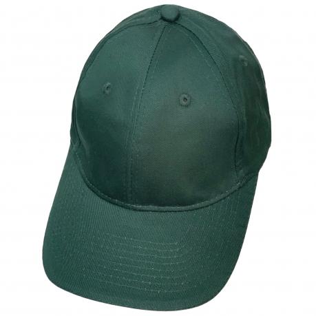 Бейсболка глубокого зеленого цвета классического кроя