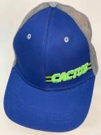 Бейсболка голубого цвета с серой сеткой CACTUS