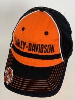 Бейсболка Harley-Davidson с черной вышивкой на оранжевой тулье