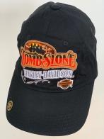 Бейсболка Harley-Davidson с яркой вышивкой на черном фоне