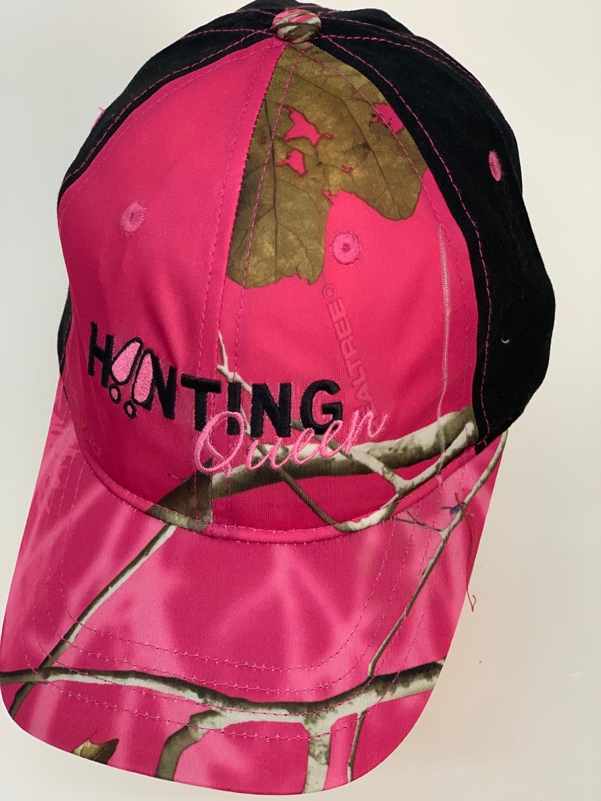 Бейсболка Hunting розовый камуфляж с черным тылом