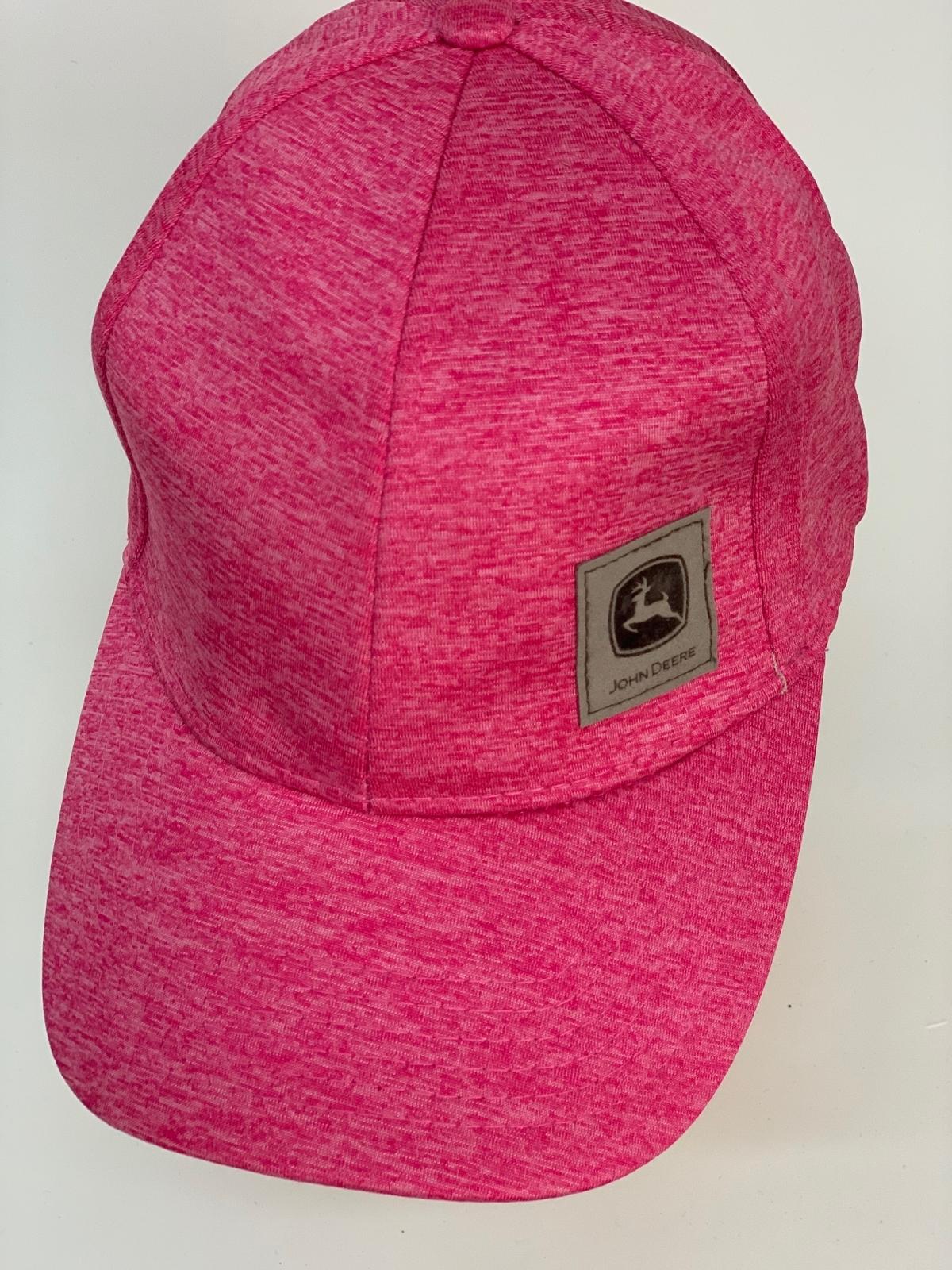 Бейсболка John Deere цвета розовый меланж