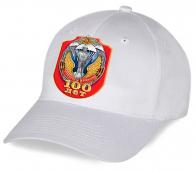 Белая бейсболка к 100-летию Рязанского высшего воздушно-десантного командного училища имени В.Ф. Маргелова