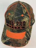 Бейсболка камуфляж Bass Pro Shops с оранжевой вставкой на козырьке