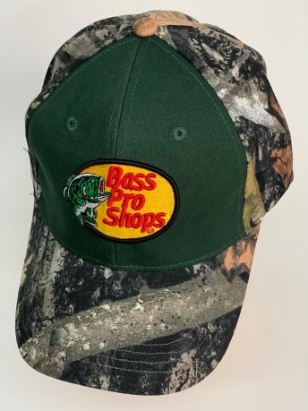 Бейсболка камуфляж Bass Pro Shops с темно-оливковой вставкой