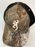 Бейсболка камуфляж Browning с черной сеткой и принтом