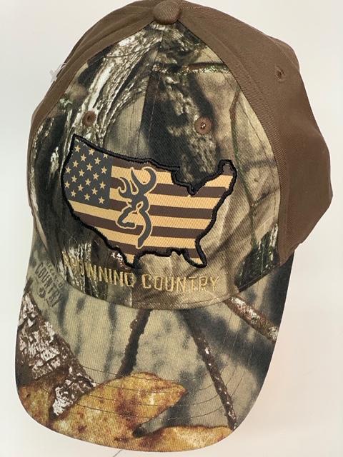 Бейсболка камуфляж Browning с коричневым тылом