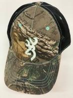 Бейсболка камуфляж Browning с вышивкой и черной сеткой